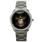 Face of Grim Reaper Goth Death Dark Sport Metal Watch