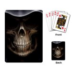Face of Grim Reaper Goth Death Dark Playing Cards Single Design