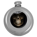 Face of Grim Reaper Goth Death Dark Hip Flask (5 oz)