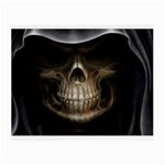Face of Grim Reaper Goth Death Dark Glasses Cloth (Small, Two Sides)