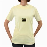 Apocalyptic Pickup Truck in Field Women s Yellow T-Shirt