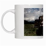 Apocalyptic Pickup Truck in Field White Mug