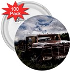 Apocalyptic Pickup Truck in Field 3  Button (100 pack)