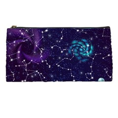 Realistic Night Sky Poster With Constellations Pencil Case