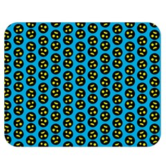 0059 Comic Head Bothered Smiley Pattern Double Sided Flano Blanket (medium)  by DinzDas