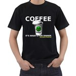Coffee it s what s for dinner Black T-Shirt