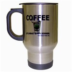 Coffe It s What s For Dinner Travel Mug (Silver Gray)