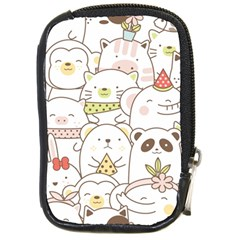 Cute-baby-animals-seamless-pattern Compact Camera Leather Case by Sobalvarro