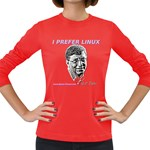 Bill Gates Prefers Linux Women s Long Sleeve Dark T-Shirt
