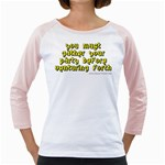 You must gather your party before venturing forth Girly Raglan