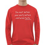 You must gather your party before venturing forth Long Sleeve Dark T-Shirt