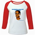 Sheldon is my homie Girly Raglan