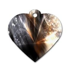Flash Light Dog Tag Heart (one Side)