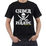 Cyber Pirate  Black T-Shirt