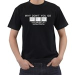 Control Alt Delete Yourself Black T-Shirt