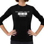 Control Alt Delete Yourself Women s Long Sleeve Dark T-Shirt
