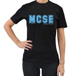 MCSE College Women s Black T-Shirt