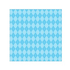 Baby Blue Design Small Satin Scarf (square)