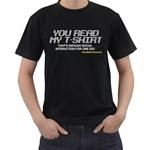 Stop Talking To Me Black T-Shirt