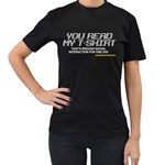 Stop Talking To Me Women s Black T-Shirt