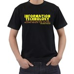 Information Technology Black T-Shirt