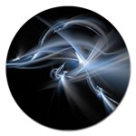 Blue on Black Gothic Sci Fi Fractal Magnet 5  (Round)
