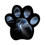 Blue on Black Gothic Sci Fi Fractal Magnet (Paw Print)