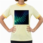 Mutant Sound Wave Punk Goth Fractal Women s Fitted Ringer T-Shirt