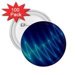 Mutant Sound Wave Punk Goth Fractal 2.25  Button (100 pack)