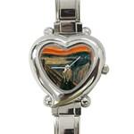 SCREAM Edvard Munch Van Gogh Painting Art Heart Charm Watch
