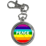 PEACE Rainbow Flag No War Battle Key Chain Watch