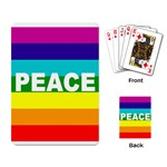 PEACE Rainbow Flag No War Battle Playing Card