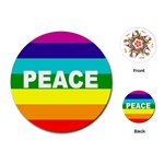 PEACE Rainbow Flag No War Battle Round Playing Card