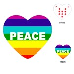 PEACE Rainbow Flag No War Battle Heart Playing Card
