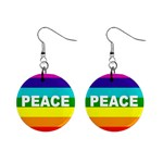 PEACE Rainbow Flag No War Battle Earrings