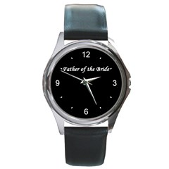 Father of the Bride Round Metal Watch from SnappyGifts.co.uk Front