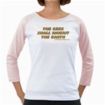 The Geek Shall Inherit The Earth Girly Raglan
