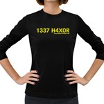 1337 H4x04 Women s Long Sleeve Dark T-Shirt