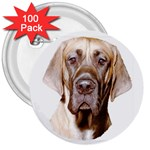 Great Dane ^ 3  Button (100 pack)