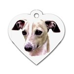 Italian Greyhound ^ Dog Tag Heart Necklace (Two Sides)