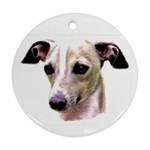 Italian Greyhound ^ Round Ornament (Two Sides)