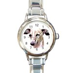 Italian Greyhound ^ Round Italian Charm Watch