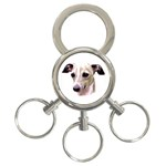 Italian Greyhound ^ 3-Ring Key Chain