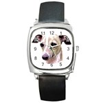 Italian Greyhound ^ Square Metal Watch