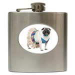 Pug In A Dress ^ Hip Flask (6 oz)