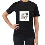 Pug In A Dress ^ Women s Black T-Shirt