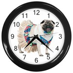 Pug In A Dress ^ Wall Clock