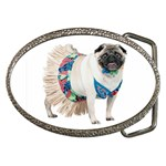 Pug In A Dress ^ Belt Buckle