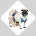 Pug In A Dress ^ Car Window Sign