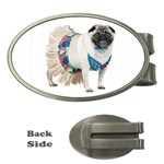 Pug In A Dress ^ Money Clip (Oval)